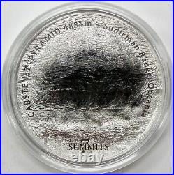 2020 $25 Cook Islands 5oz Silver The 7 Summits Carstensz Pyramid with OGP