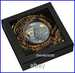 2020 3 Oz Silver $20 Cook Island STEAMPUNK Antique Finish Coin