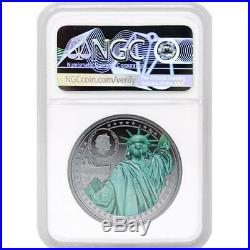 2020 Cook Island MISS LIBERTY (PF70) 2oz Ultra Cameo Silver Coin