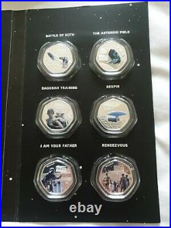 2020 Cook Islands 14 x Star Wars 25 Cents Silver Plated Colour Coins Collection