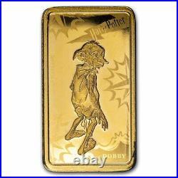 2020 Cook Islands 1/2 Gram Gold Harry Potter Ingot (Dobby) SKU#219752
