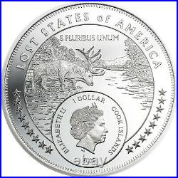 2020 Cook Islands $1 Lost States of America McDonald 1 oz 999 Silver Proof Coin