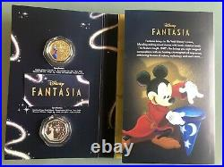 2020 Cook Islands Disney Fantasia 80 Years 25 Cents Silver Plated Coloured Coins
