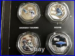 2020 Cook Islands Star Wars 25 Cents Silver Plated Coloured Coins Collection PRE
