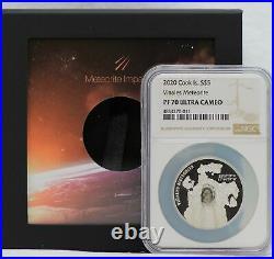 2020 Cook Islands Vinales Viñales Meteorite 1 Oz Silver NGC PF70 $5 Coin JJ882