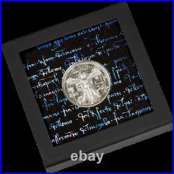 2021 Cook Island $5, VITRUVIAN MAN X-RAY, 1oz 999 Silver Coin, 1st in Series