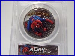 2 Coin Set 2017 $5 Cook Islands Spider-Man 1oz. 999 Silver PCGS PR70/69DCAM FD