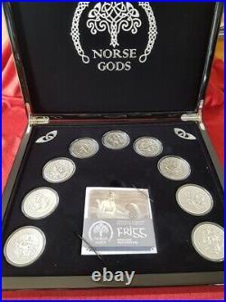 2 oz. Fine Silver 9-Coin Set Norse Gods (Cook Islands)