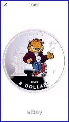 2pc Cook Islands 1999 garfield silver COIN Set