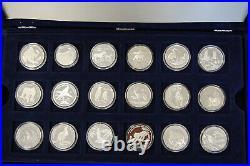 54 Various Silver Coins 1990-95 Cook Islands, San Marino, Tuvalu (50589)