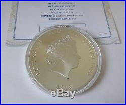 5oz solid 925 silver $25 coin ltd. Ed. 450 COOK ISLANDS Royal Line of Succession