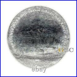 7 SUMMITS CARSTENSZ PYRAMID 25$ silver coin 5oz. Fine silver coin Cook Islands