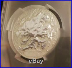 7 Summits Mt. Denali 2016 Cook Ultra High Relief 5 Oz Silver Coin Pcgs Ms70