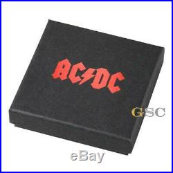 ACDC HIGHWAY TO HELL Vinyl Record 2$ 999 fine silver coin Cook Islands 2018