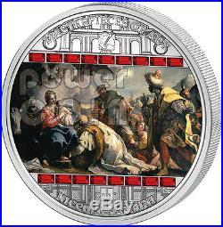 ADORATION OF KINGS Niccolo Bambini 3 Oz Silver Coin 20$ Cook Islands 2013