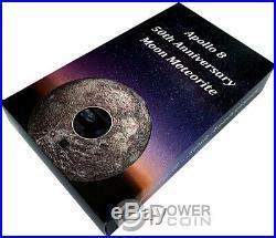 APOLLO 8 Moon Meteorites 3 Oz Silver Coin 20$ Cook Islands 2018