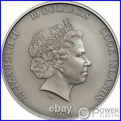 ARTEMIS Bow And Arrow Mythology 2 Oz Silver Coin 10$ Cook Islands 2020