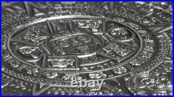 AZTEC CALENDAR STONE 3 Oz Silver Coin 20$ Cook Islands 2018. ONLY 333 COINS