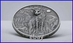 American Grey Wolf 5 Dollars 1 Oz Palau 2020 Silver Coin