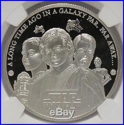 Anakin Skywalker 2005 Cook Islands Star Wars NGC PF 69 Silver Coin JX581
