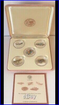Australian Silver Coin Fauna Series 1998 COOK ISLANDS 5 x 1 Oz Perth Mint