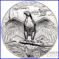 BALD EAGLE High Relief Animals 1 Oz Silver Coin 5$ Cook Islands 2018