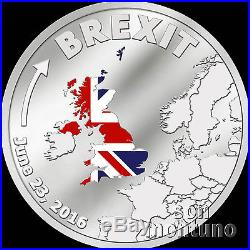 BREXIT COIN One Dollar Silver Proof JUNE 23 2016 Cook Islands $1 UK/EU