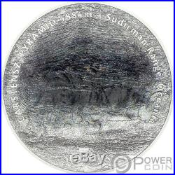 CARSTENSZ PYRAMID 7 Summits 5 Oz Silver Coin 25$ Cook Islands 2020
