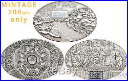 CEILINGS OF HEAVEN Set 3 Silver Coins 5$ Cook Islands 2012 2013 2014