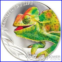 CHAMELEON Magnificent Life 1 Oz Silver Coin 5$ Cook Islands 2020