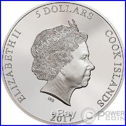 COBRA Snake Magnificent Life 1 Oz Silver Coin 5$ Cook Islands 2017