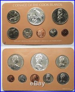 COOK ISLANDS 1979 BU Specimen SET 8 coins w. Silver 5$ 500 ex. RARE! # 95519