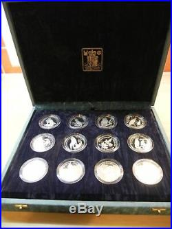 COOK ISLANDS Endangered Wildlife Silver Proof coins 1991