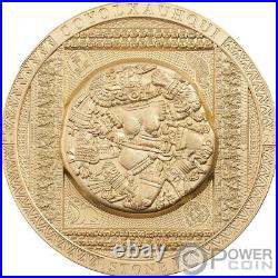 COYOLXAUHQUI STONE Gilded Symbolism 3 Oz Silver Coin 20$ Cook Island 2021