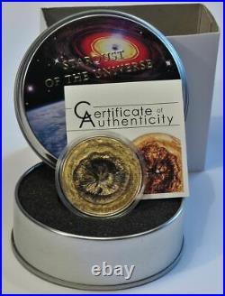 Chergach Meteorite 2017, Meteorite coin, Silver, Cook Islands