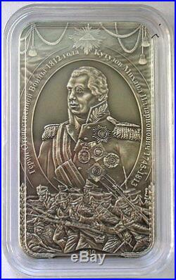 Cook 2010 Mikhail Kutuzov 5 Dollars 1oz Silver Coin, BU