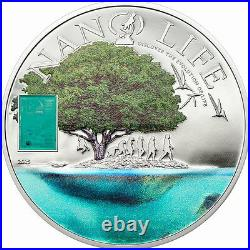 Cook 2015 Life Evolution Nano 10 Dollars Colour Silver Coin, Proof