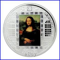 Cook 2016 Masterpieces of Art Mona Lisa Leonardo da Vinci 3 oz Silver Coin 26