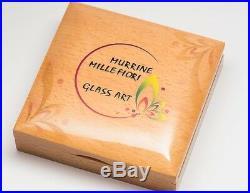 Cook 2017 Murrine Millefiori Glass Art 5 Dollars Silver Coin, Proof