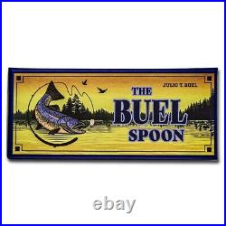 Cook Island 1/2 oz. 999 Silver Buel Spoon Fishing Lure Spinner Trout 2$ Coin NEW