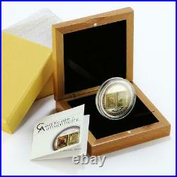 Cook Island 5 dollars The Lords Prayer 3D Bible colored proof silver coin 2015