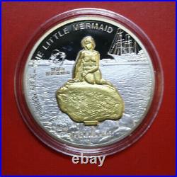 Cook Islands 10 Dollars 2010 Silber 1 Oz+#F4225 Kleine Meerjungfrau Sculpture
