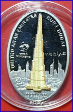 Cook Islands 10 Dollars 2010 Silber Proof #F3236, Burj Dubai Skulpturmünze