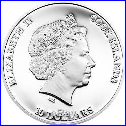 Cook Islands $10 Dollars, 2 oz. Silver Proof Coin, 2015, Great Star of Africa, QEII