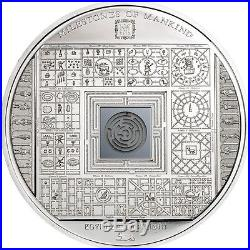Cook Islands 10 Dollars, 50 g Silver Proof Coin, 2016, Milestones of Mankind, QEII