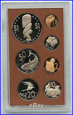 Cook Islands 1973 PROOF Coin Set Silver Royal Australian Mint MA139