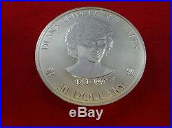 Cook Islands 1Kg $30 Silver Coin 1997 Diana Princess of Wales