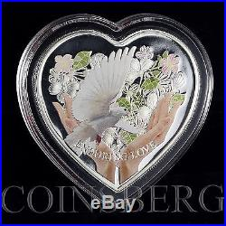 Cook Islands 1 Dollars Enduring Love Heart-Shaped Silver Coloured Coin 2012