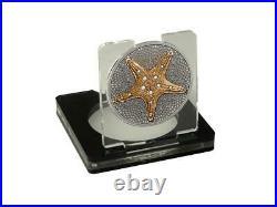 Cook Islands 1$ Silver Star Starfish Antique Gold 1 Oz Silbermünze. 500 St