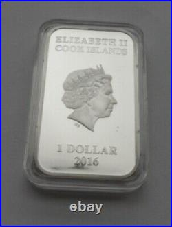 Cook Islands 1 dollar 2016 Dingo Australian Apex Predators Silver Coins RARE